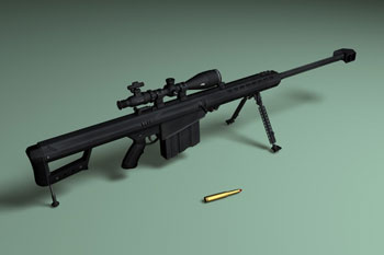 50 BMG Sniper Rifle