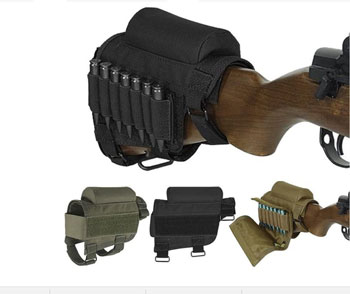 Wsobue Rifle Buttstock, Hunting Shooting Tactical Cheek Rest Pad