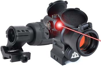 AT3 Magnified Red Dot with Laser Sight Kit - 2 MOA Red Dot with Laser Sight and 3X Magnifier