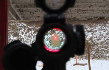 What is a red dot scope good for